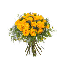 20 Short-stemmed Yellow Roses